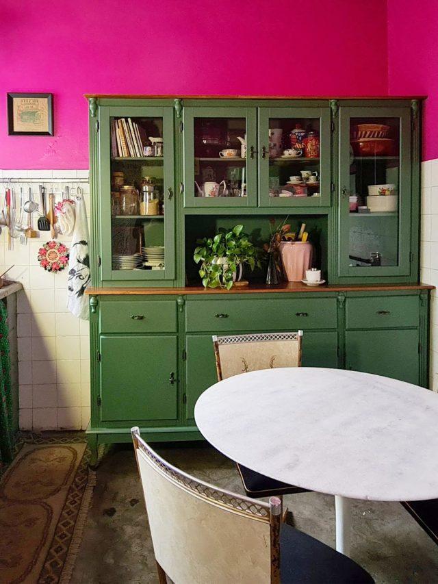 Minha Cozinha Rosa na Casa Alugada